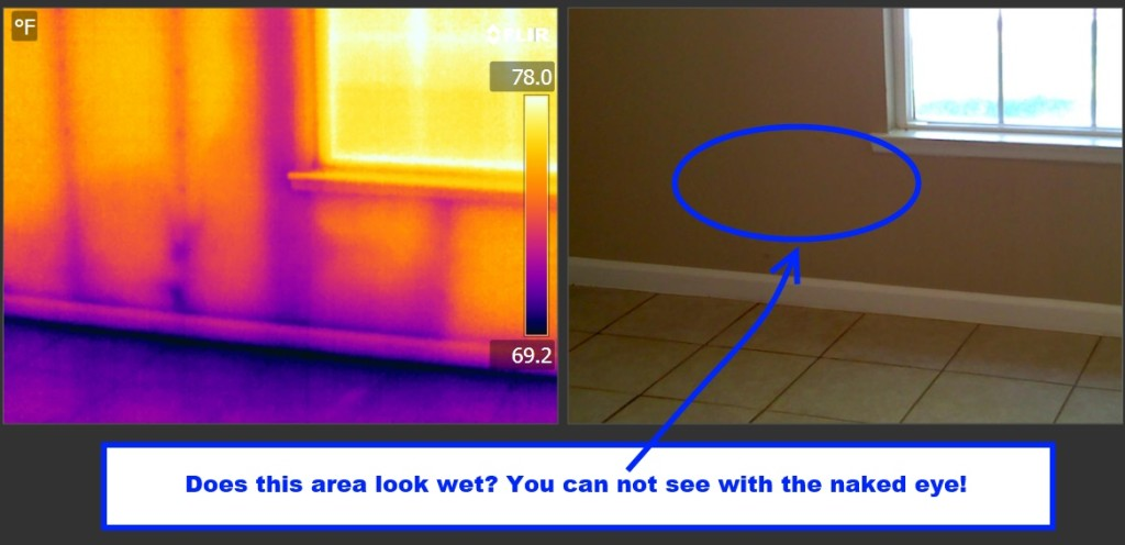 Thermal Imaging Uncovers Moisture During Inspection Again